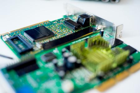 Set of computer hardware Stock Photo