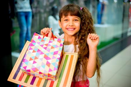 Girl shopping in mall