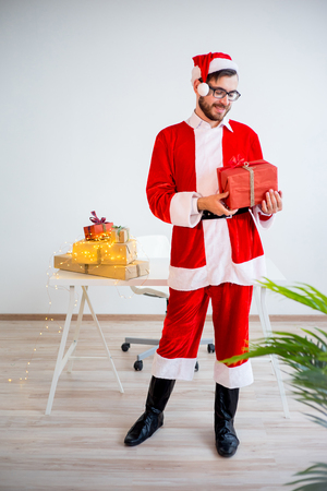 st nick: Model dressed as Santa Claus