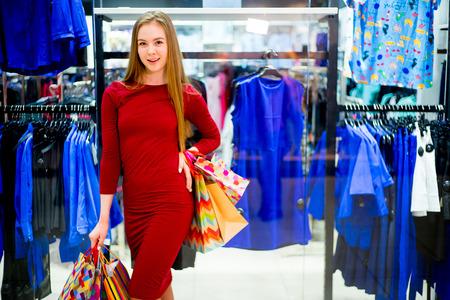 shopper: Young woman shopping
