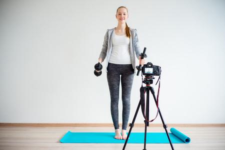 Female fitness blogger