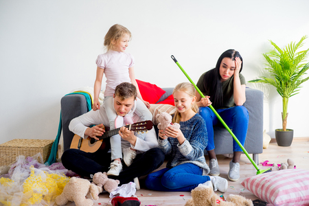 romp: Kids created a mess at home