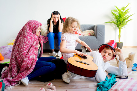 Children out of control Stock Photo