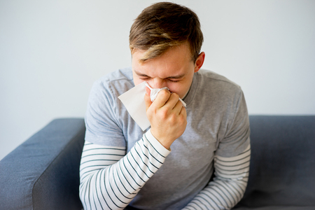 contagious: Man having cold
