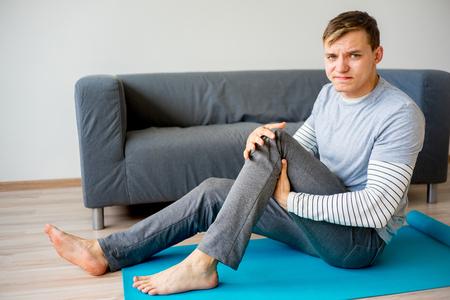 Man sprained his leg