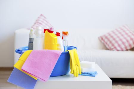 Equipos de limpieza Foto de archivo - 86910092