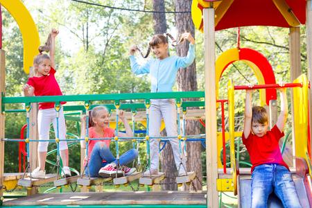 Kids on playground Foto de archivo