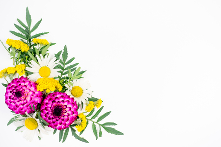 Flowers composition image Stock Photo