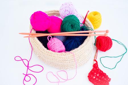 tejido de lana: Several knitting accessories
