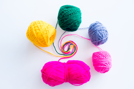 Several knitting accessories