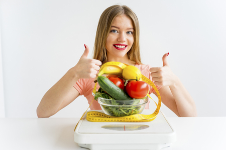 Woman on a healthy diet