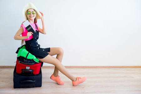 Luggage overweight concept Foto de archivo