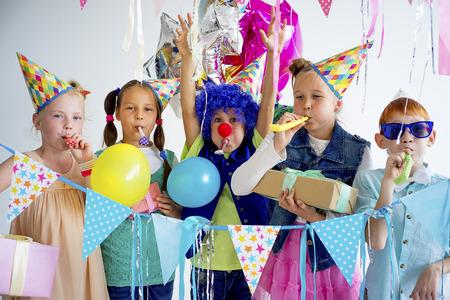 Tieners verjaardagsfeestje Stockfoto