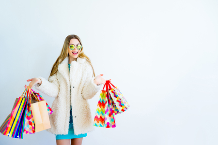Modern girl shopping