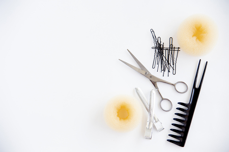 barber: Set of different hairbrushes