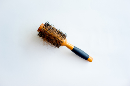 Comb with hair