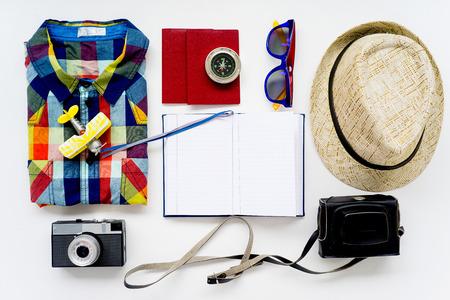 Full packed suitcase Stock Photo