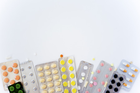 A lot of colorful pills Banque d'images