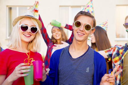 Teens having a party Foto de archivo
