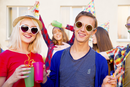 Teens having a party Standard-Bild