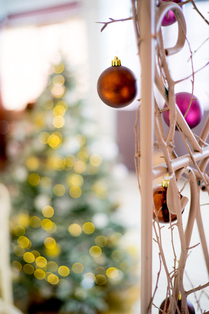 Beautiful christmas interior new year decoration in a room