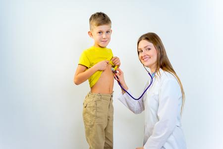 Female pediatrician with a child