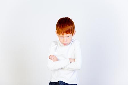 Kids emotional portrait Stock Photo