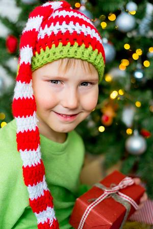 Kid celebrating christmas
