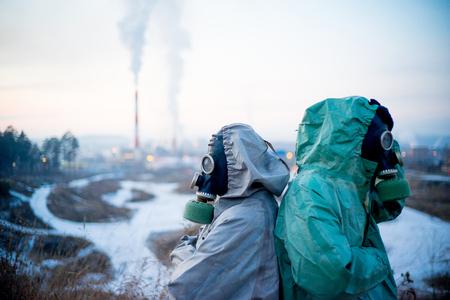 People in gas masks Stock fotó - 92742911