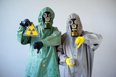 People in gas masks