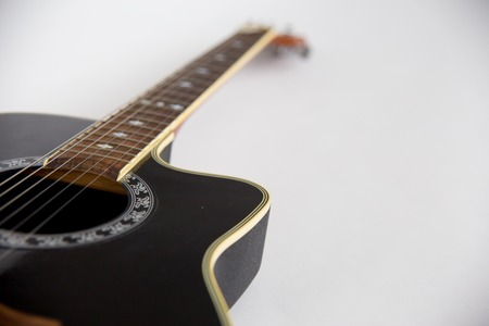 an image acoustic guitar on white background Stock Photo