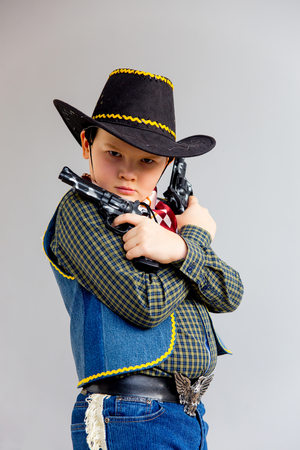 Boy in a cowboy costume
