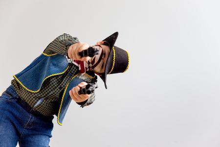 Boy in a cowboy costume