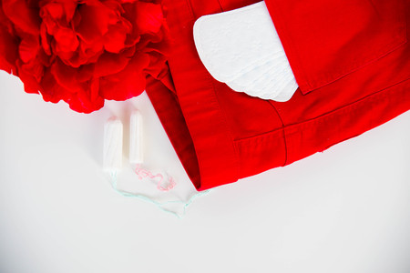 Menstrual pads on a table