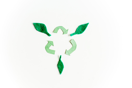 protecting ecology and trash recycling concept image