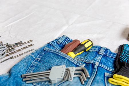 a set of construction tools or instruments 版權商用圖片