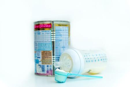 Baby powder milk formula in a can
