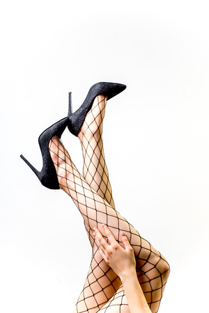 Female legs in tights or panty hose