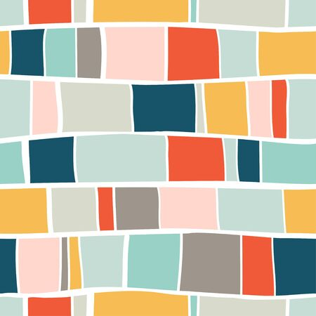 Trendy creative seamless pattern with hand drawn abstract colorful shapes. For printing for modern and original textile, wrapping paper, wall art design