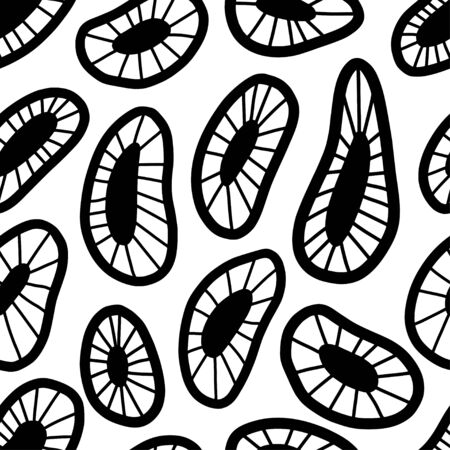 Seamless pattern with abstract shapes. Hand drawn doodle texture designs for backgrounds. For modern and original textile, wrapping paper, wall art design 写真素材 - 133371029