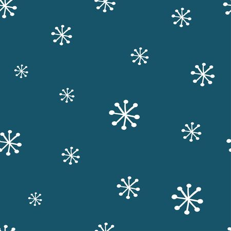 Winter seamless pattern with snowflakes. Hand drawn winter holiday illustration