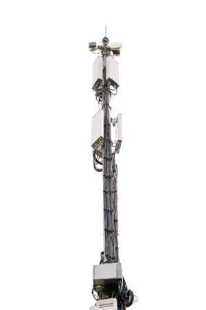 5g tower on a white background. cell tower