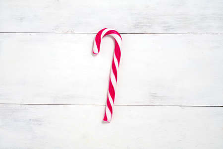 christmas festive background with candy cane. new year holidays concept Stock Photo