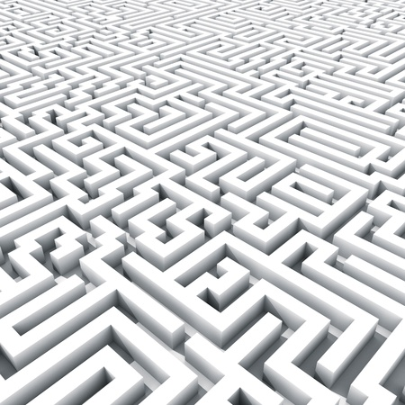 Endless large maze 3D render  photo