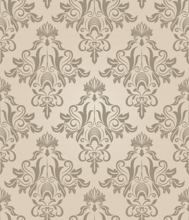 Seamless beige retro pattern. Vector