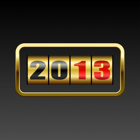 New 2013 year golden figures card.  Vector