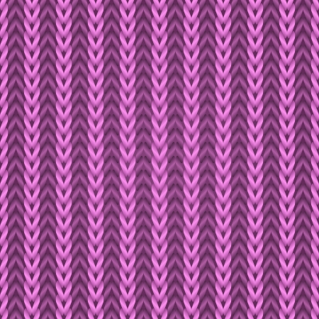 Seamless pink knitting fabric pattern  Vector