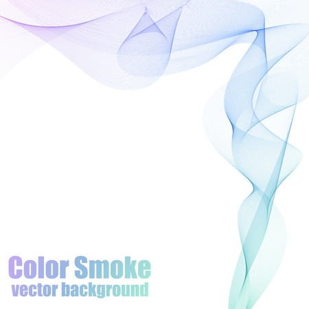 smooth curve design: Abstract blue and violet smoke background