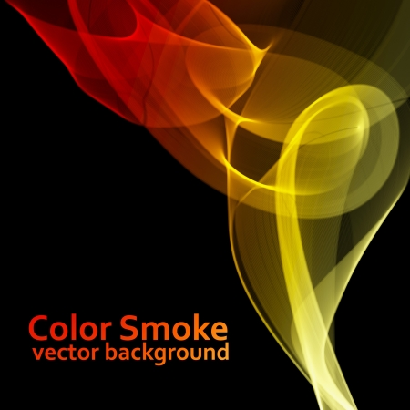 Abstract fire colored smoke background Stock Vector - 14358143
