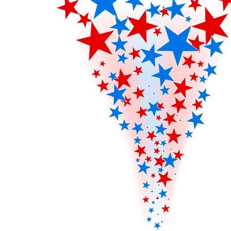 4 star: July 4th background stars flow  Illustration